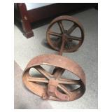 Vintage Railroad Dolly Wheels Greenville RR Depot