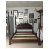 Beautiful Four Poster King Size Wood Bed Frame