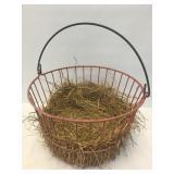 Metal Coated Egg Basket w/ Handle