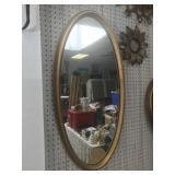 Large Gold Framed Oval Mirror