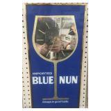 Imported Blue Nun Mirror Clock