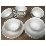 Nine Pair of Wedgewood Cups and Saucers