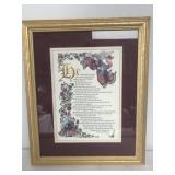 Framed Foil Print Psalm 91