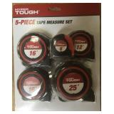 Hyper Tough 5-Piece Tape Measure Set
