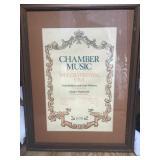 Framed Chamber Music Festival 1978