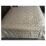 Waterford Goldtoned Reversible King Comforter - B