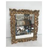 Gold Framed Mirror Marked Italy on Back