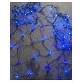 9 Strands of Working Blue Net Lights