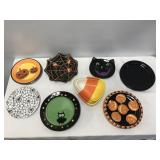 Misc. Halloween Snack Plate & Dish Lot