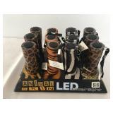 12 Metal Animal Skin LED Flash Lights