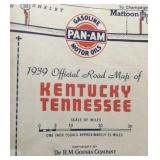 1939 Pam-Am Gasoline Map of Tennessee