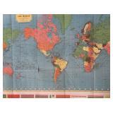 Hammonds World War II Map of the World