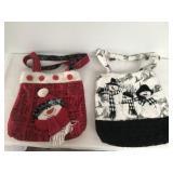 2 Christmas Hand Bags