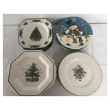 Misc. Christmas Plate Lot