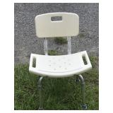 Adjustable Shower Chair w/ Back Rest - New