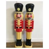 """(2) Vintage 41""""H Union Productions Toy Soldiers"""