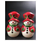 "(2) Union Products 13"" Blow Mold Snowmen"