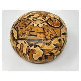 Karol Cusco Peru Carved Gourd