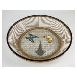 Vintage Butterfly Motif Tray / Basket