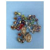 Vintage Rosary w/ Chapel Sterling Medallions ITALY