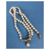 10k Gold & Pearl Necklace