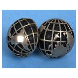 Vtg SWANK Globe Cufflinks