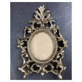 Small Victorian Style Brass Picture Frame