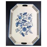 """22"""" x 16"""" Delft Style Serving Tray"""