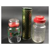 Christmas Glass & Tin Canisters