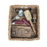 Lot of Primitive Wares w/ Basket