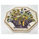 Hand Painted Ceramic Trivet Portugal