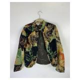 Sz L ANU By Natural Embroidered Jacket