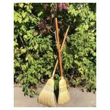 Pair of Straw Brooms