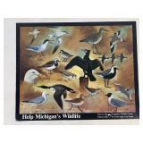 "20"" x 16"" Help Michigan Wildlife Poster"