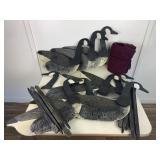 Large Lot of Hand Painted Duck Decoys