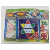 3 Magnetic Travel Games -NEW