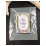 """Indian Proverb Matted 10x 8.5"""""""