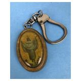 Vintage Monte Tabor Religious Keychain (Wood &