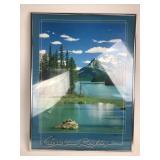 Canadian Rockies Maligne Lake Framed Poster