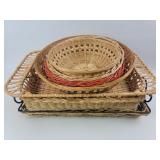 Mixed Wicker Baskets & More Lot