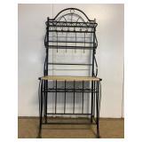 Wood and Metal Wine Shelf Bar Rack