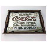 Vintage Coca-Cola Mirrored Wood Tray
