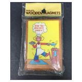 Vintage Over 40 Wood Magnet