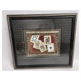 "Playing Card Framed & Matted Wall Art 21.5"" x 19"""