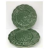 Vintage Bordallo Pinheiro Embossed Plates