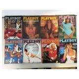 Vintage 1977 Playboy Magazines