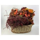 Artificial Holiday Flowers W/ Basket