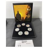 POPE BENEDICT XVI COIN SET WITH CASE 7 COINS