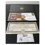 RONALD REAGAN MEMORIAL COIN AND FIRST DAY STAMP