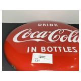 "24"" COCA COLA RED BUTTON NICE CONDITION"